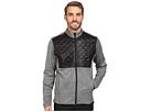 adidas Golf CLIMAHEAT Prime Quilted Full Zip Jacket (Dark Grey Heather/Black)