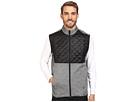 adidas Golf CLIMAHEAT Prime Quilted Full Zip Vest (Dark Grey Heather/Black)