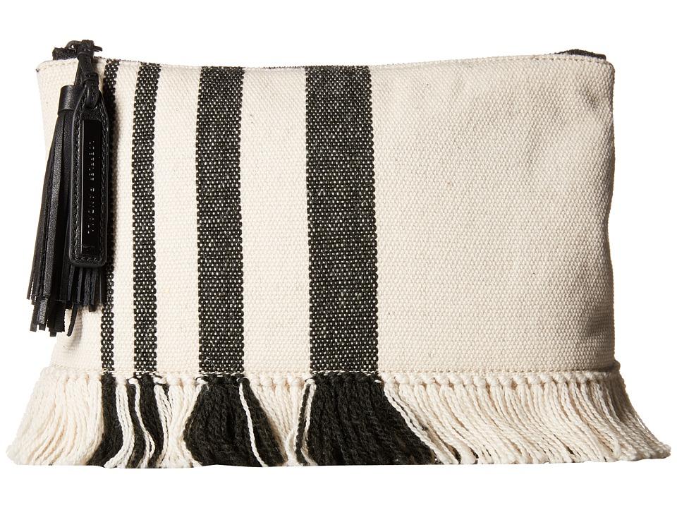 Loeffler Randall - Tassel Pouch (Black Natural Canvas) Clutch Handbags
