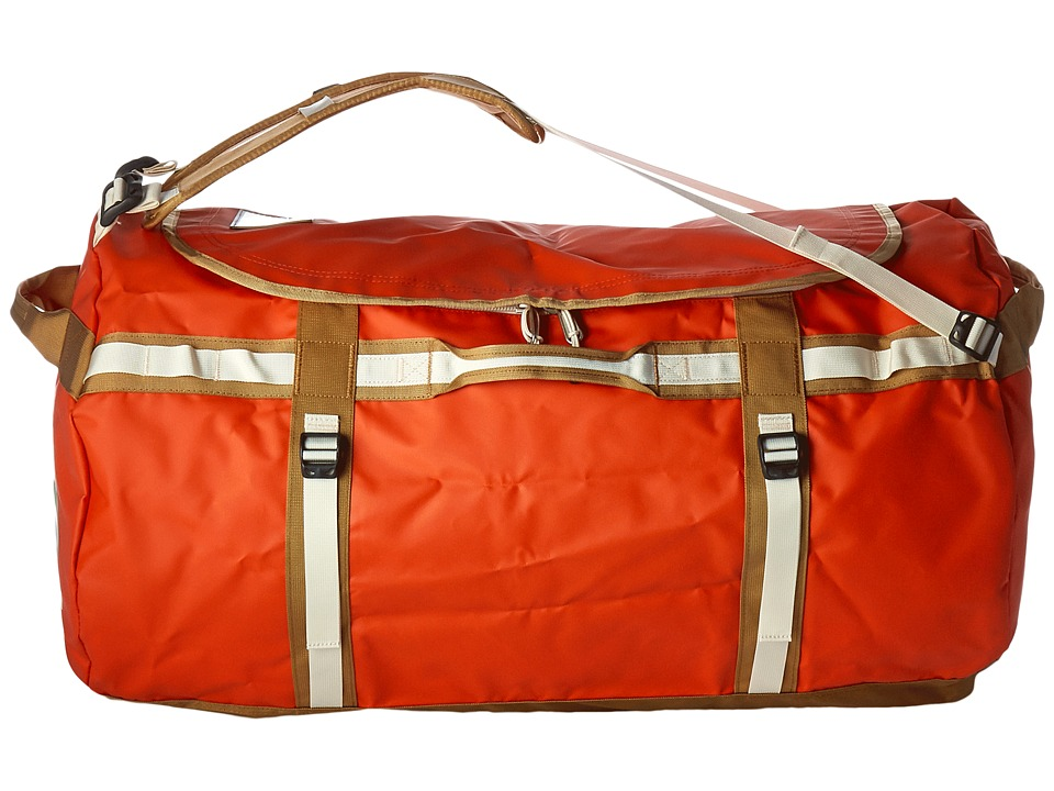 The North Face - Base Camp Duffel - XL (Poinciana Orange/Dijon Brown) Duffel Bags