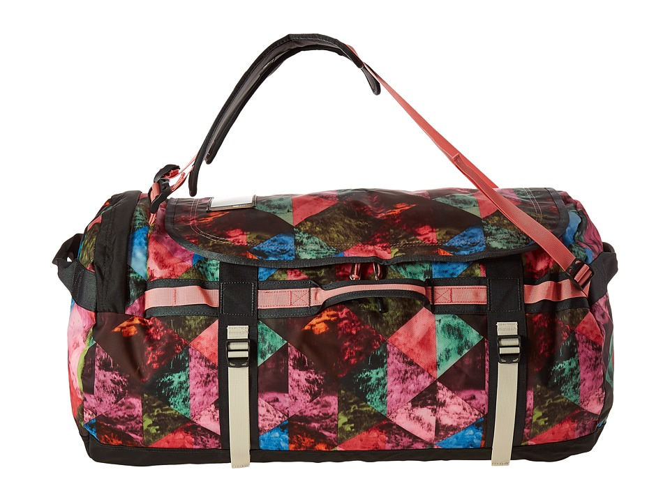 The North Face - Base Camp Duffel - Large (Double Take Print/Terrazzo Pink) Duffel Bags