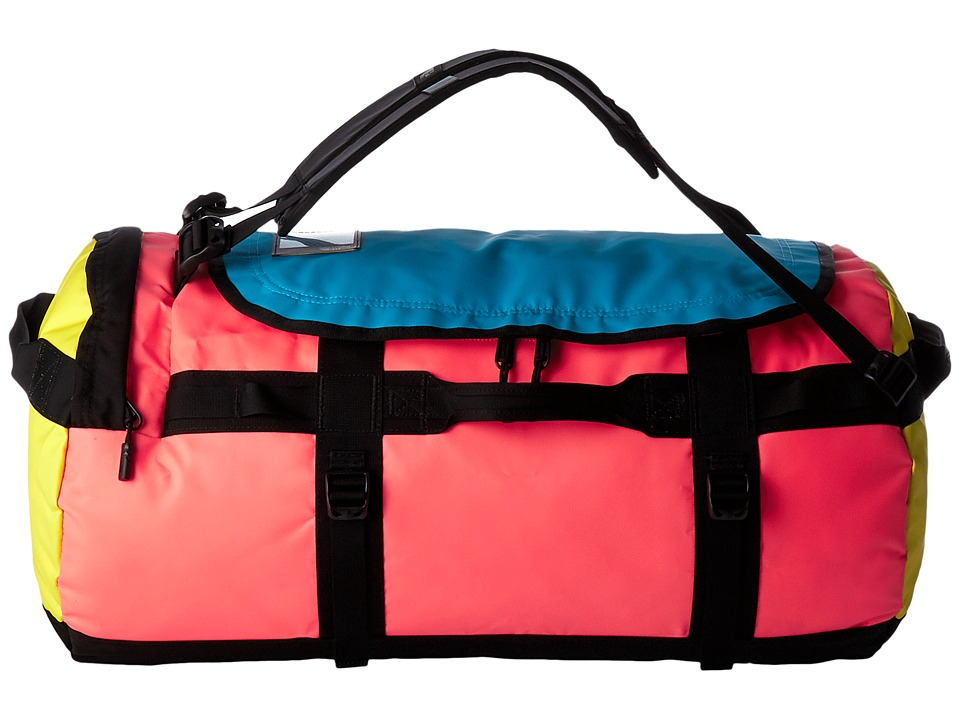 The North Face - Base Camp Duffel - Medium (Tropical Coral/Blazing Yellow) Duffel Bags