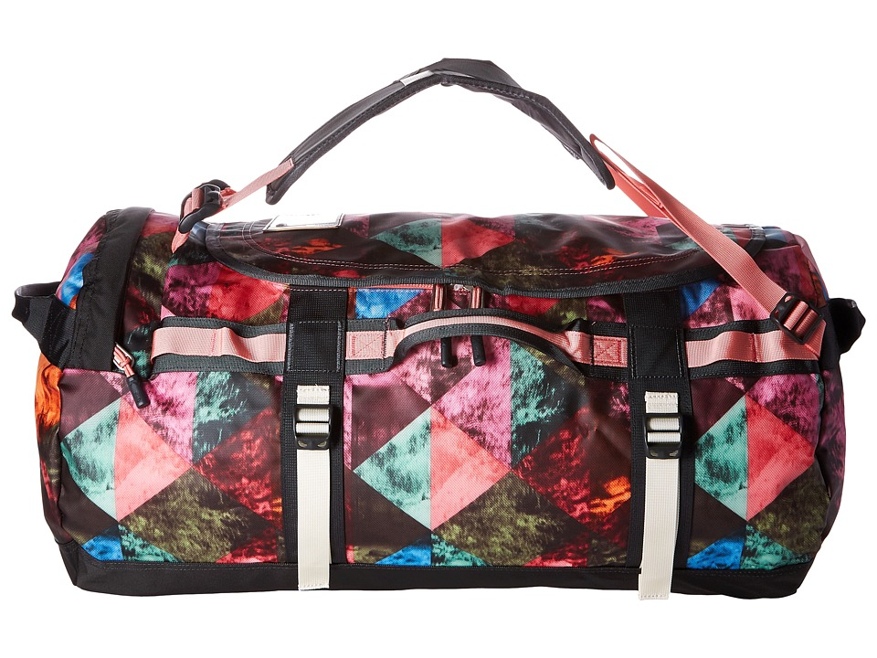 The North Face - Base Camp Duffel - Medium (Double Take Print/Terrazzo Pink) Duffel Bags