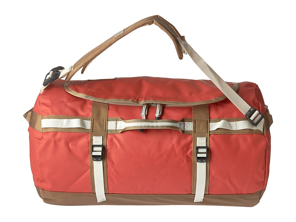 The North Face - Base Camp Duffel - Small (Poinciana Orange/Dijon Brown) Duffel Bags