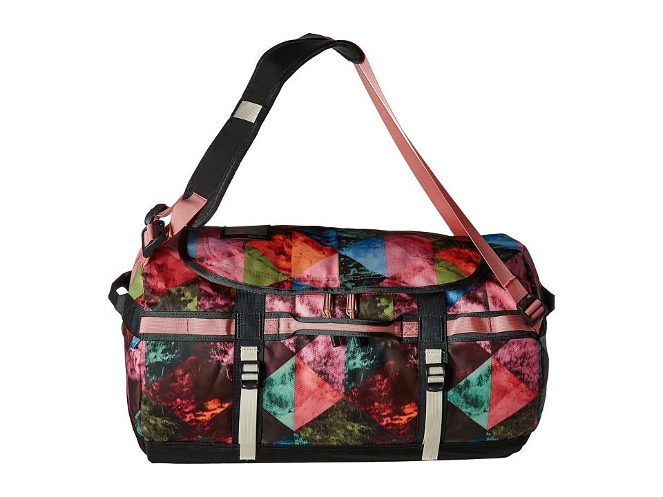 The North Face - Base Camp Duffel - Small (Double Take Print/Terrazzo Pink) Duffel Bags