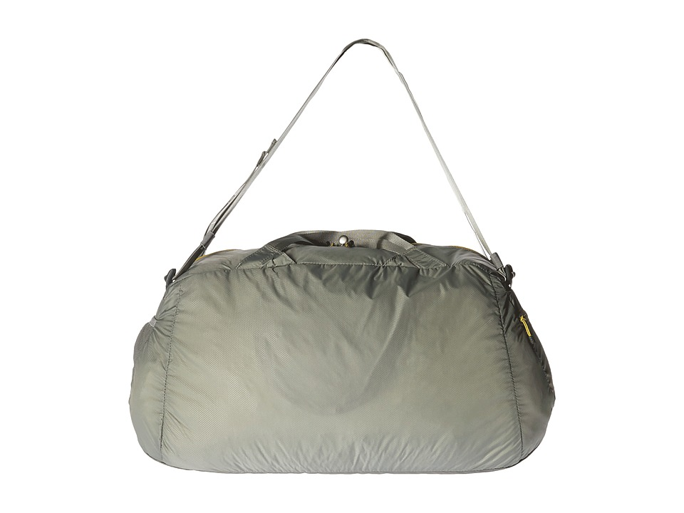 The North Face - Packable Flyweight Duffel (Moon Mist Grey/Antique Moss Green) Duffel Bags
