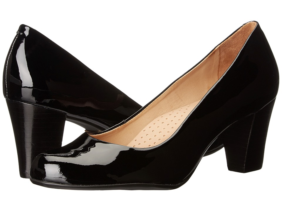 Hush Puppies - Alegria (Black Patent Leather) Women