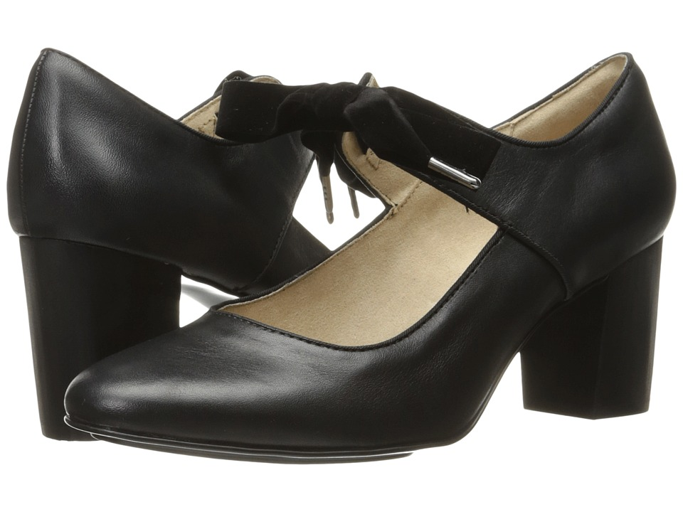Hush Puppies - Margot Langdon (Black Leather) Women