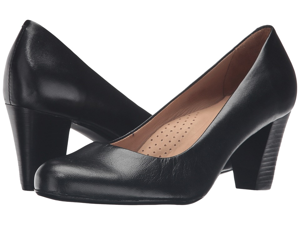 Hush Puppies - Alegria (Black Leather) Women