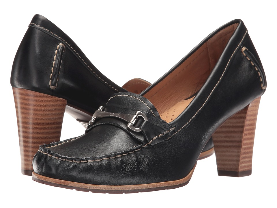 Hush Puppies - Castana (Black Leather) Women
