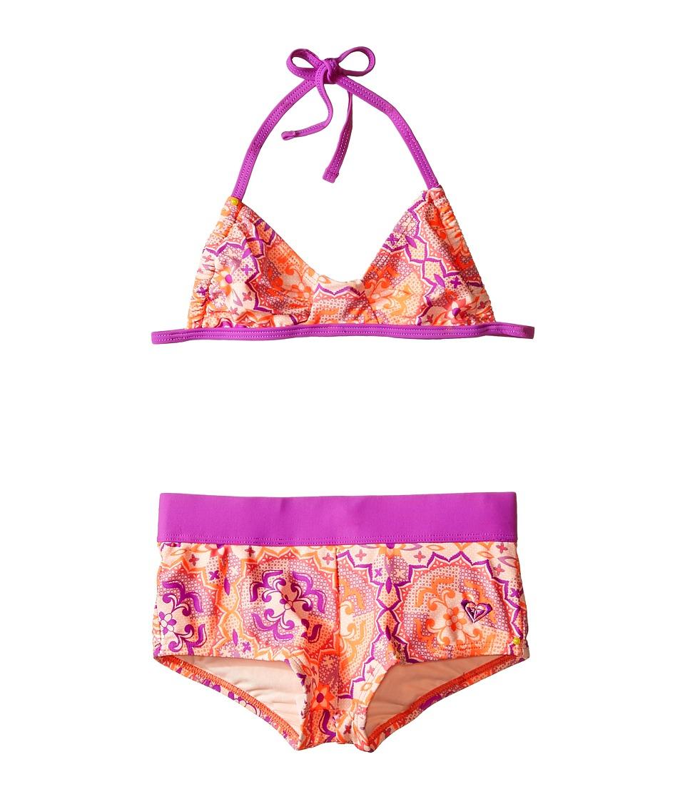 Roxy Kids Miles Away Bandeau Set Big Kids Pale Peach Girls Swimwear Sets