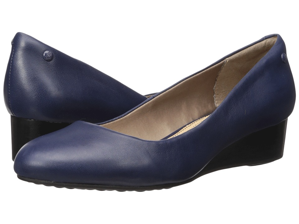 Hush Puppies - Dot Admire (Navy Leather) Women