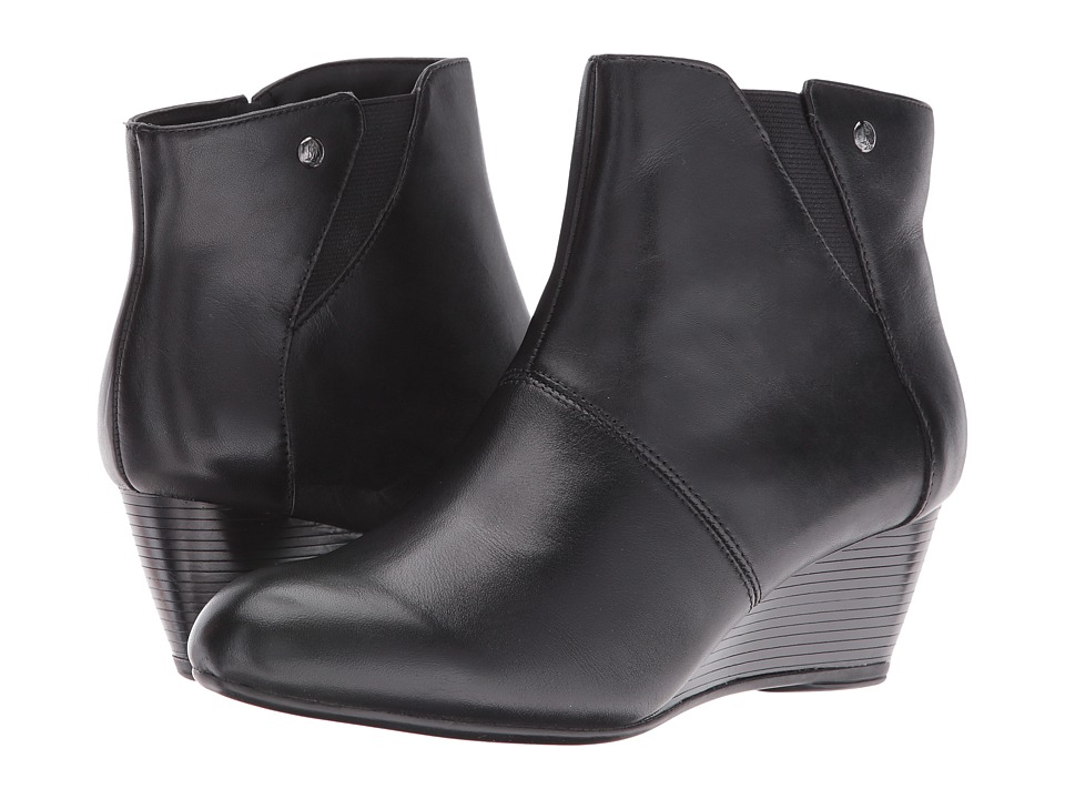 Hush Puppies Poised Rhea (Black WP Leather) Women