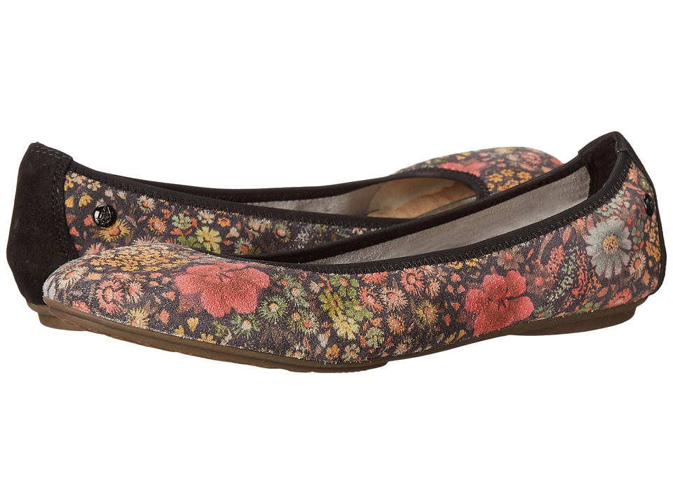 Hush Puppies - Chaste Ballet (Black Floral Suede) Women