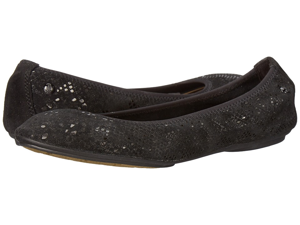 Hush Puppies - Chaste Ballet (Black Metallic Snake Suede) Women