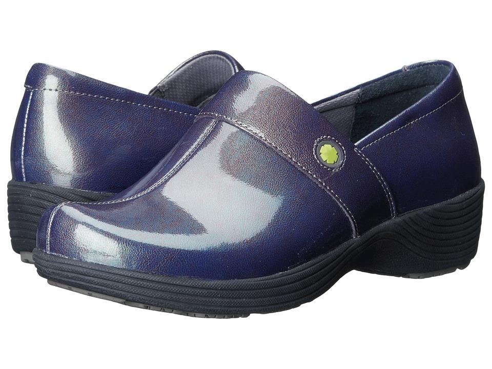 Work Wonders by Dansko Camellia Grey Prism Patent Womens Clog Shoes