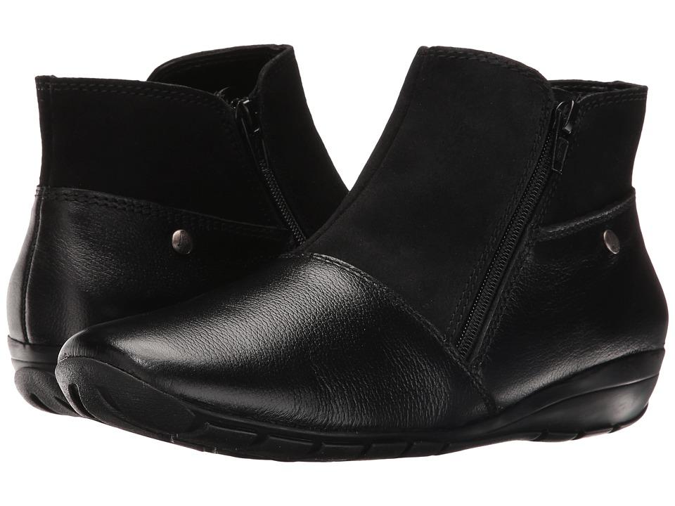 Hush Puppies Khoy Dandy (Black Suede/Leather) Women