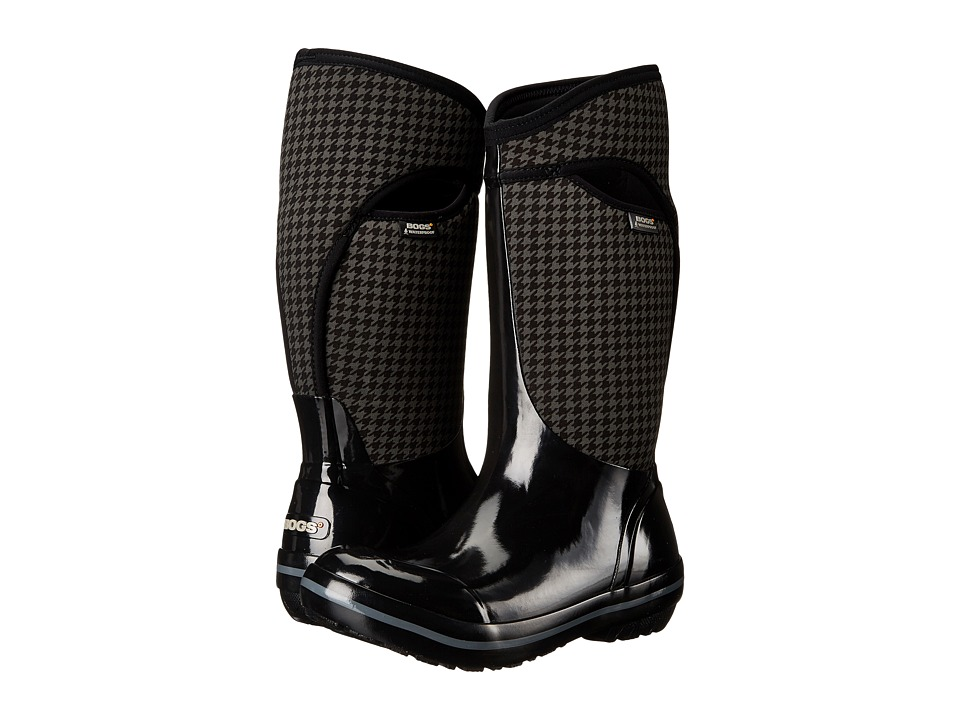 Bogs Plimsoll Houndstooth Tall (Black Multi) Women