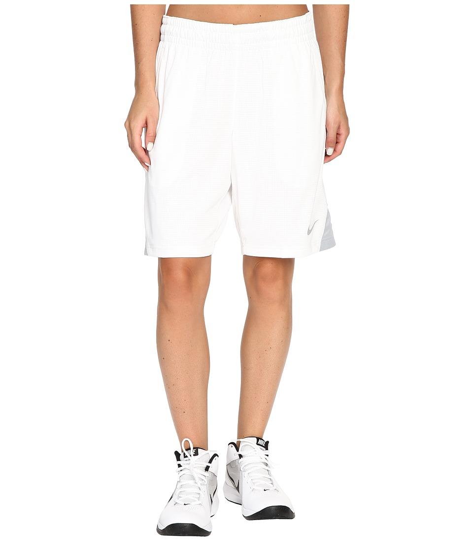 Nike 9 Basketball Short (White/Wolf Grey/Wolf Grey) Women