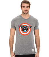 The Original Retro Brand - Tri-Blend Short Sleeve Captain America Tee