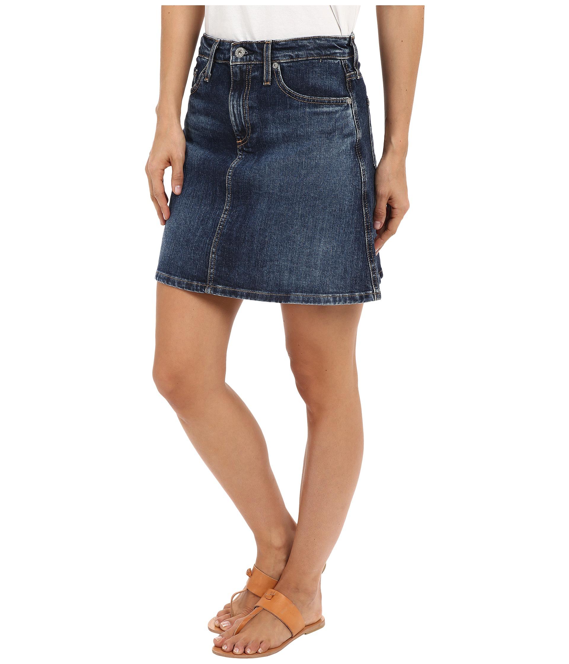 ag adriano goldschmied the ali a line mini denim skirt in