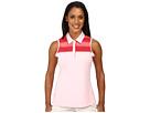 adidas Golf Melange Stripe Sleeveless Polo (Rose Shadow)