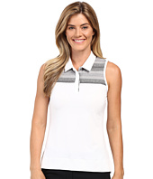 adidas Golf - Melange Stripe Sleeveless Polo
