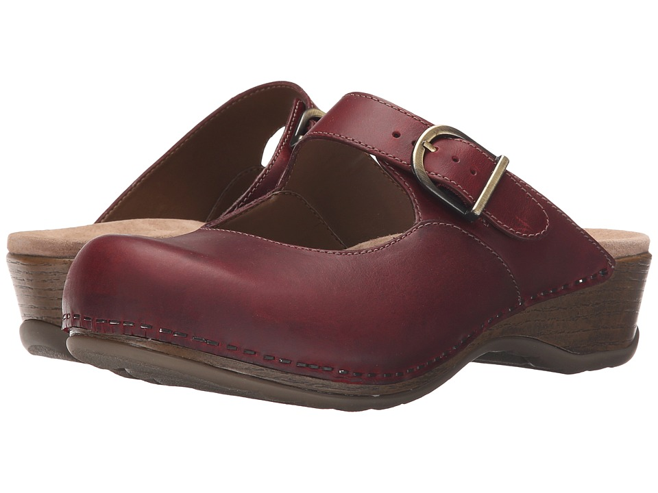 Dansko Martina (Red Oiled) Women's Clog Shoes