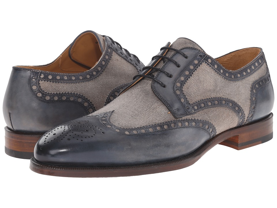 Magnanni Artea Navy Mens Lace Up Wing Tip Shoes