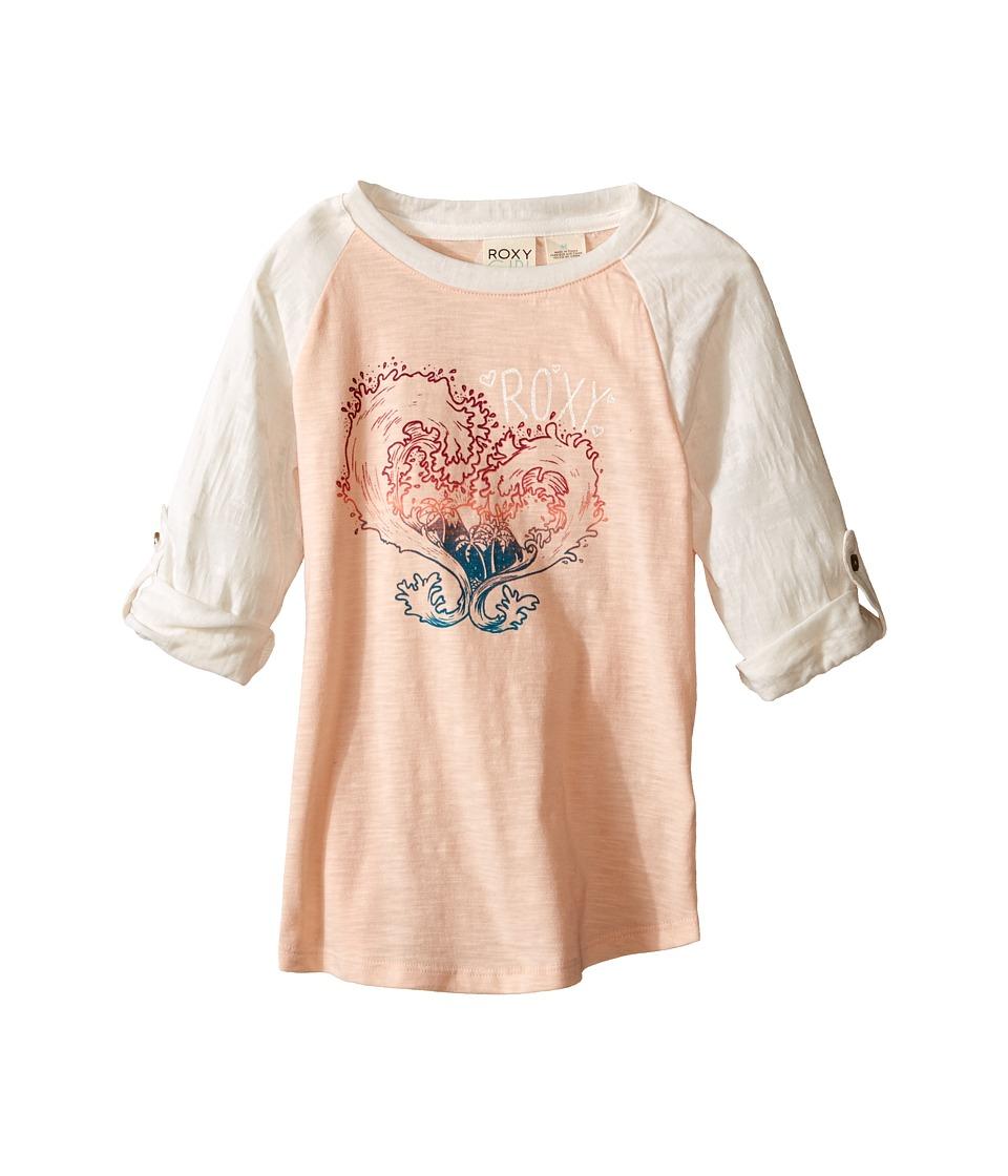 Roxy Kids Waved Heart Tee Toddler/Little Kids Pale Peach Girls T Shirt