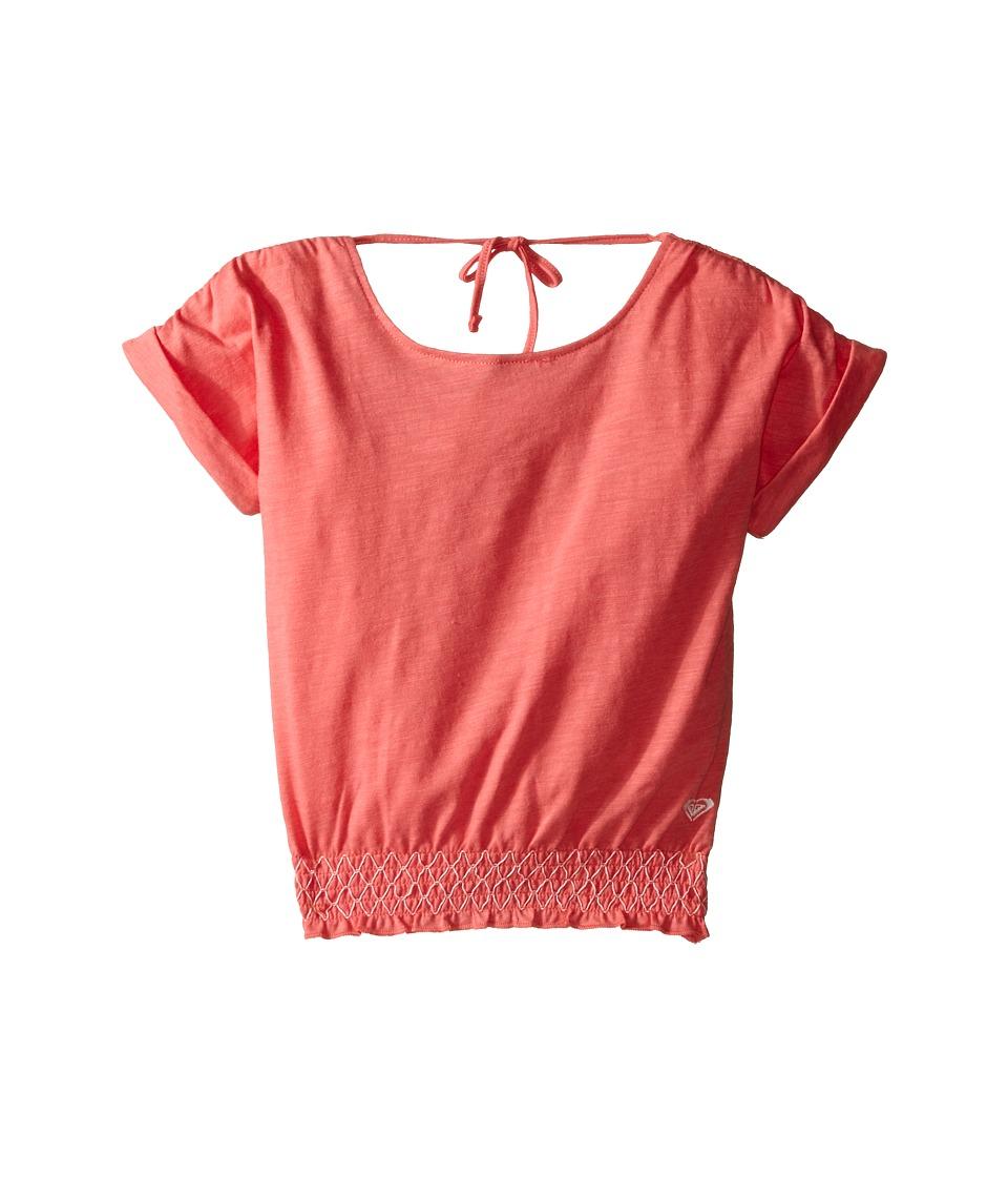 Roxy Kids Zinnia Top Toddler/Little Kids Tea Rose Girls Short Sleeve Pullover