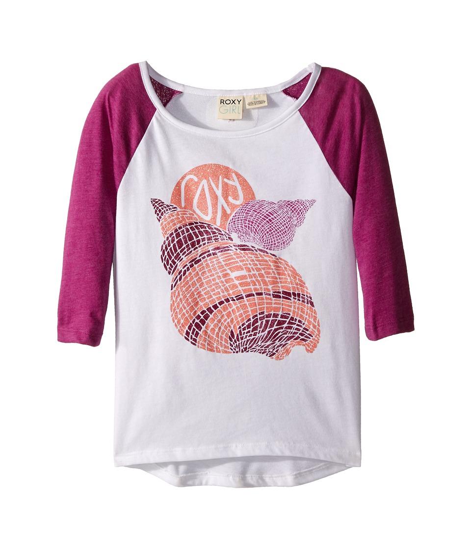 Roxy Kids Boardwalk 3/4 Sleeve Tee Toddler/Little Kids Sea Salt Girls Long Sleeve Pullover