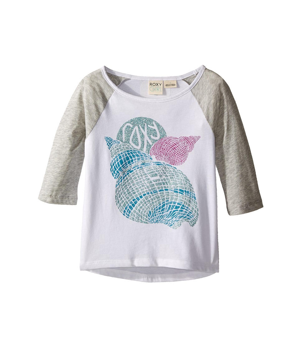 Roxy Kids Boardwalk 3/4 Sleeve Tee Toddler/Little Kids Medium Heather Girls Long Sleeve Pullover
