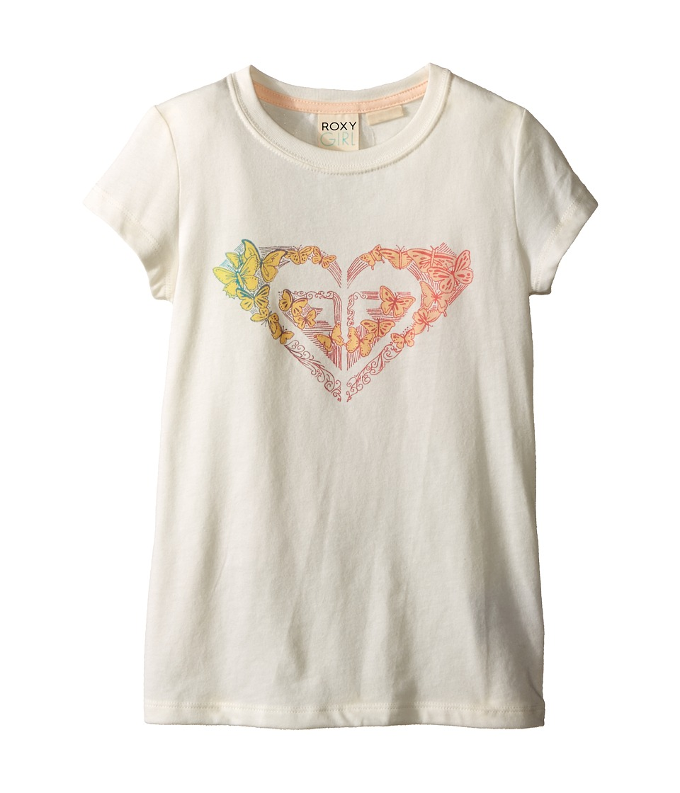 Roxy Kids Flutter By Short Sleeve Tee Toddler/Little Kids Sea Spray Girls Short Sleeve Pullover