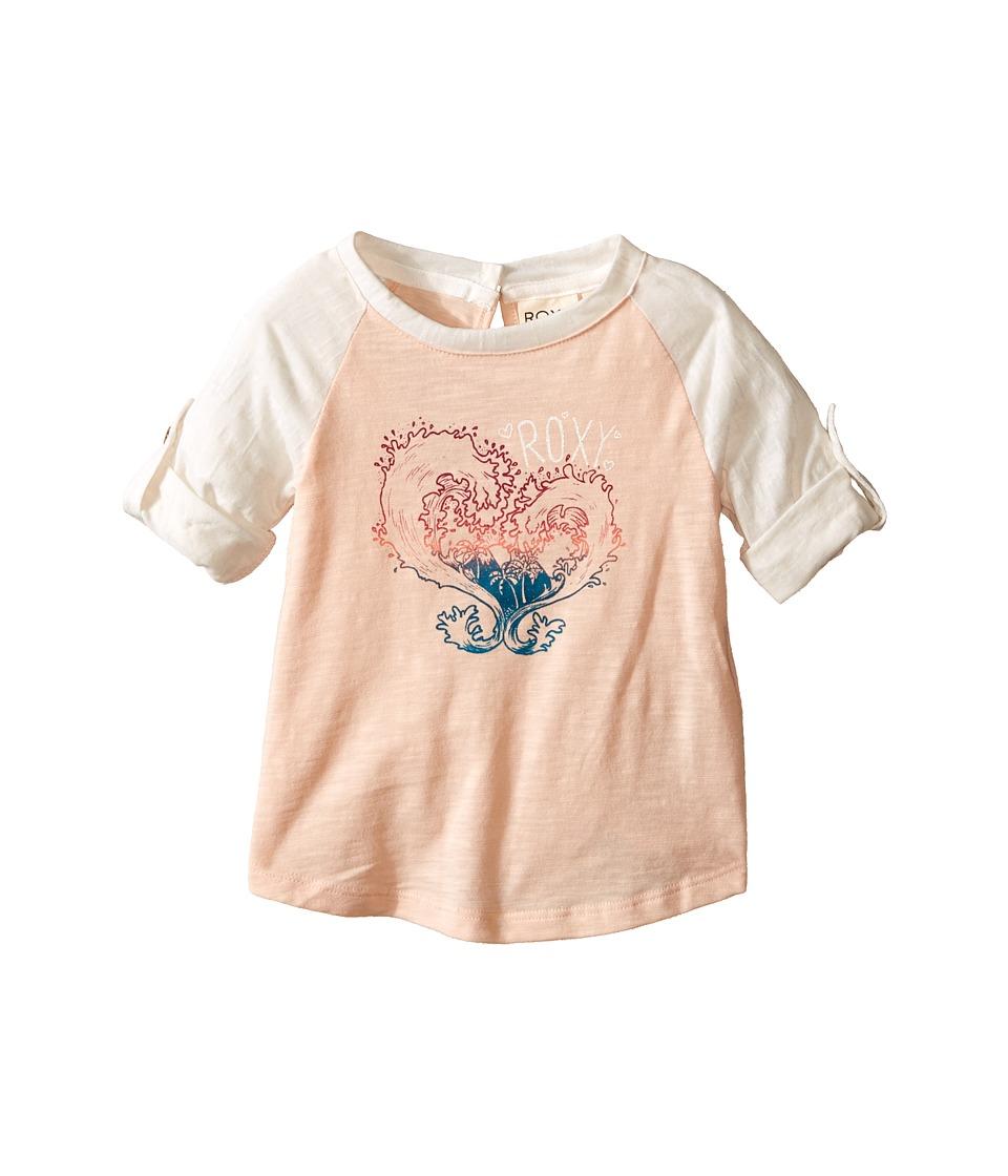 Roxy Kids Waved Heart Tee Infant Pale Peach Girls T Shirt