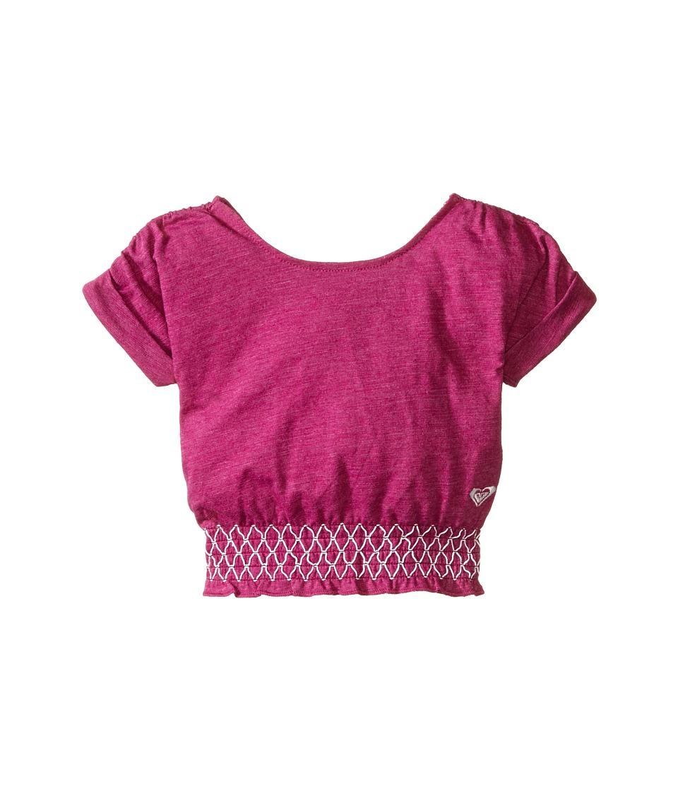Roxy Kids Zinnia Top Infant Purple Wine Girls Short Sleeve Pullover