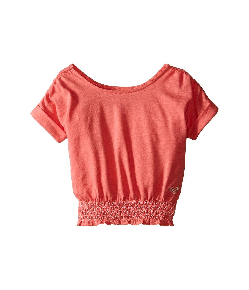 Roxy Kids Zinnia Top Infant Tea Rose Girls Short Sleeve Pullover
