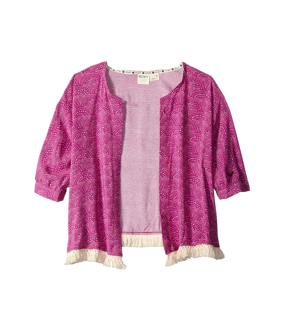 Roxy Kids Coral Kimono Big Kids Purple Wine Girls Clothing