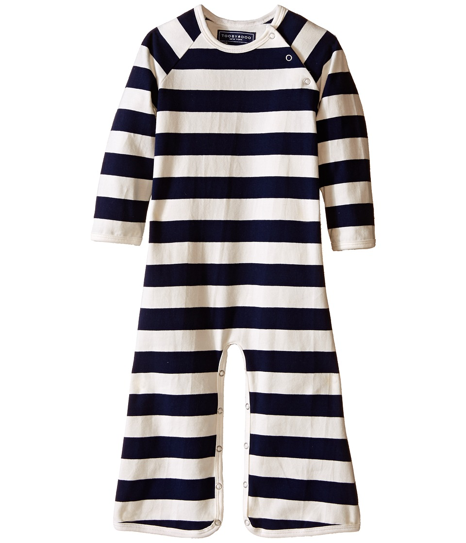 Toobydoo Navy/White Long Sleeve Bootcut Jumpsuit Infant Navy/White Boys Jumpsuit Rompers One Piece