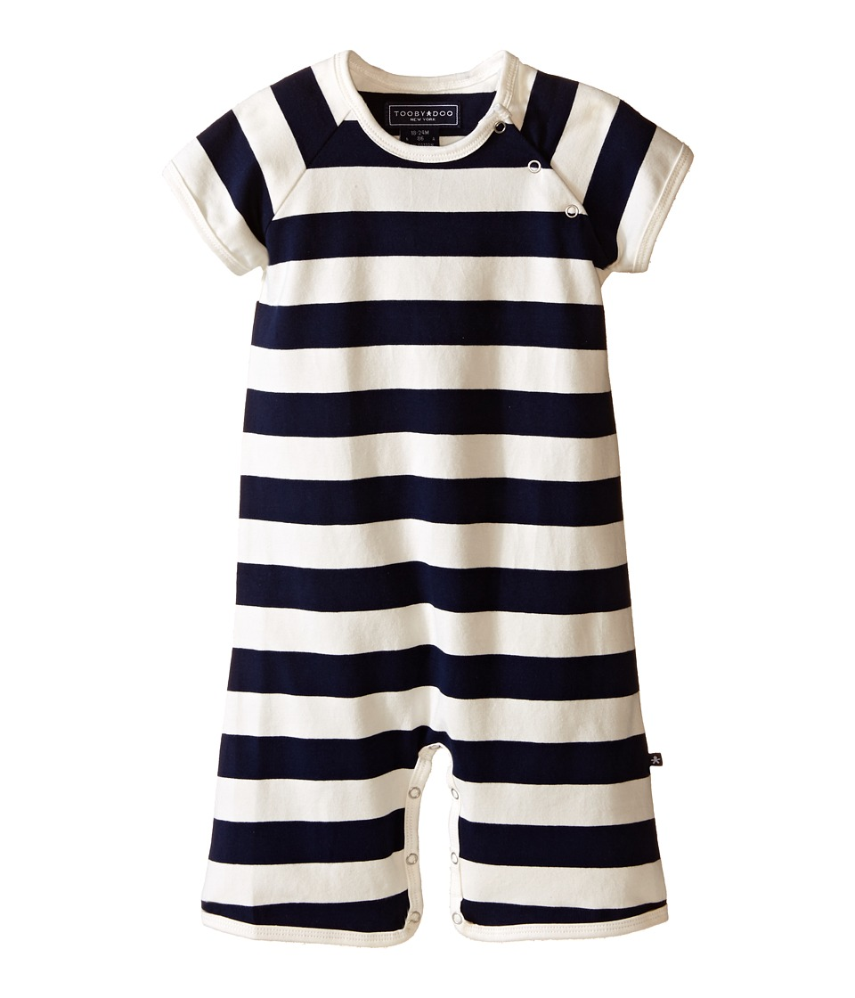 Toobydoo Navy/White Shortie Jumpsuit Infant Navy/White Boys Jumpsuit Rompers One Piece