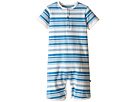 Toobydoo - Light Blue/White Shortie Jumpsuit (Infant)