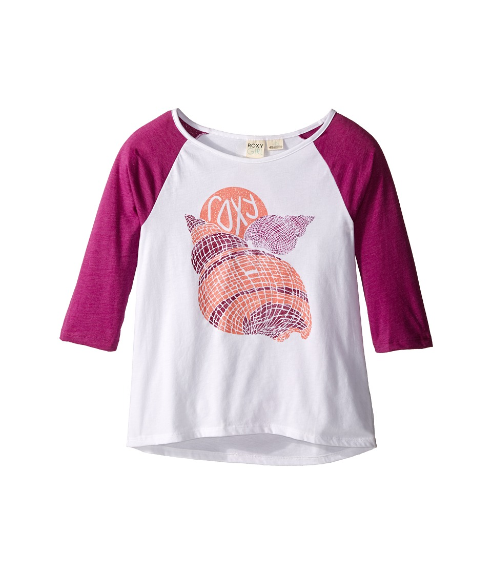 Roxy Kids Boardwalk 3/4 Sleeve Tee Big Kids Sea Salt Girls Short Sleeve Pullover