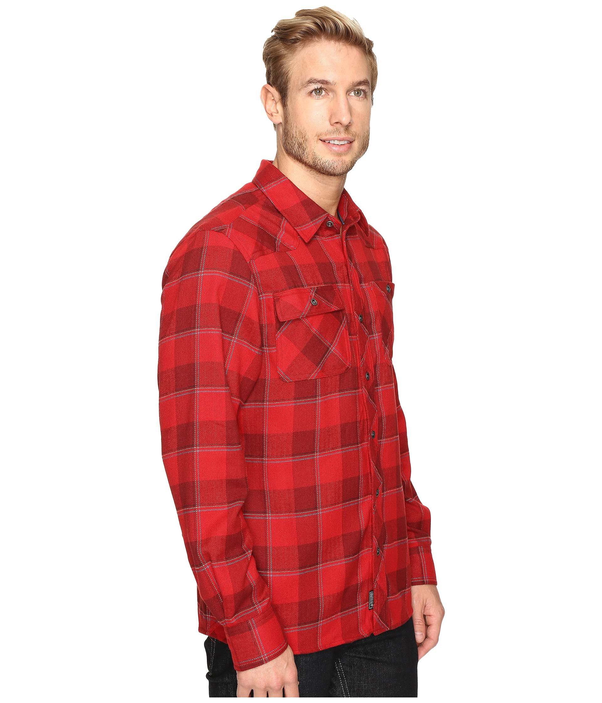 Outdoor research feedback flannel shirt agate zappos for Athletic cut flannel shirts