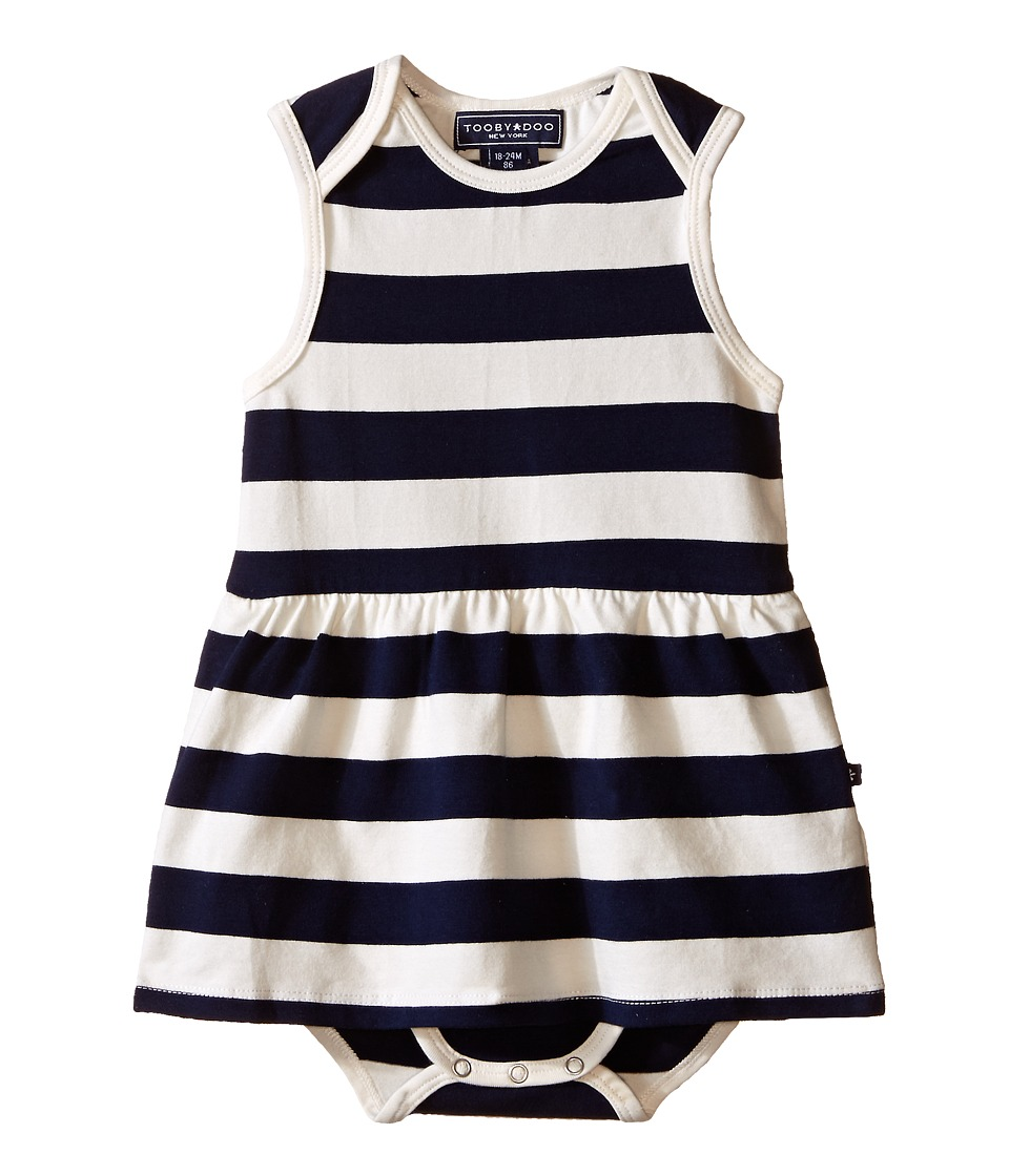 Toobydoo Navy/White Romper Dress Infant Navy/White Girls Jumpsuit Rompers One Piece