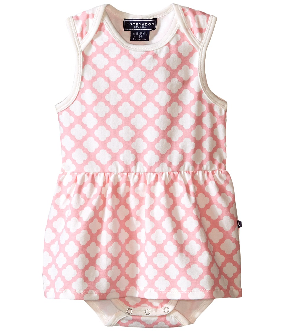 Toobydoo Pink/White Romper Dress Infant Pink/White Girls Jumpsuit Rompers One Piece