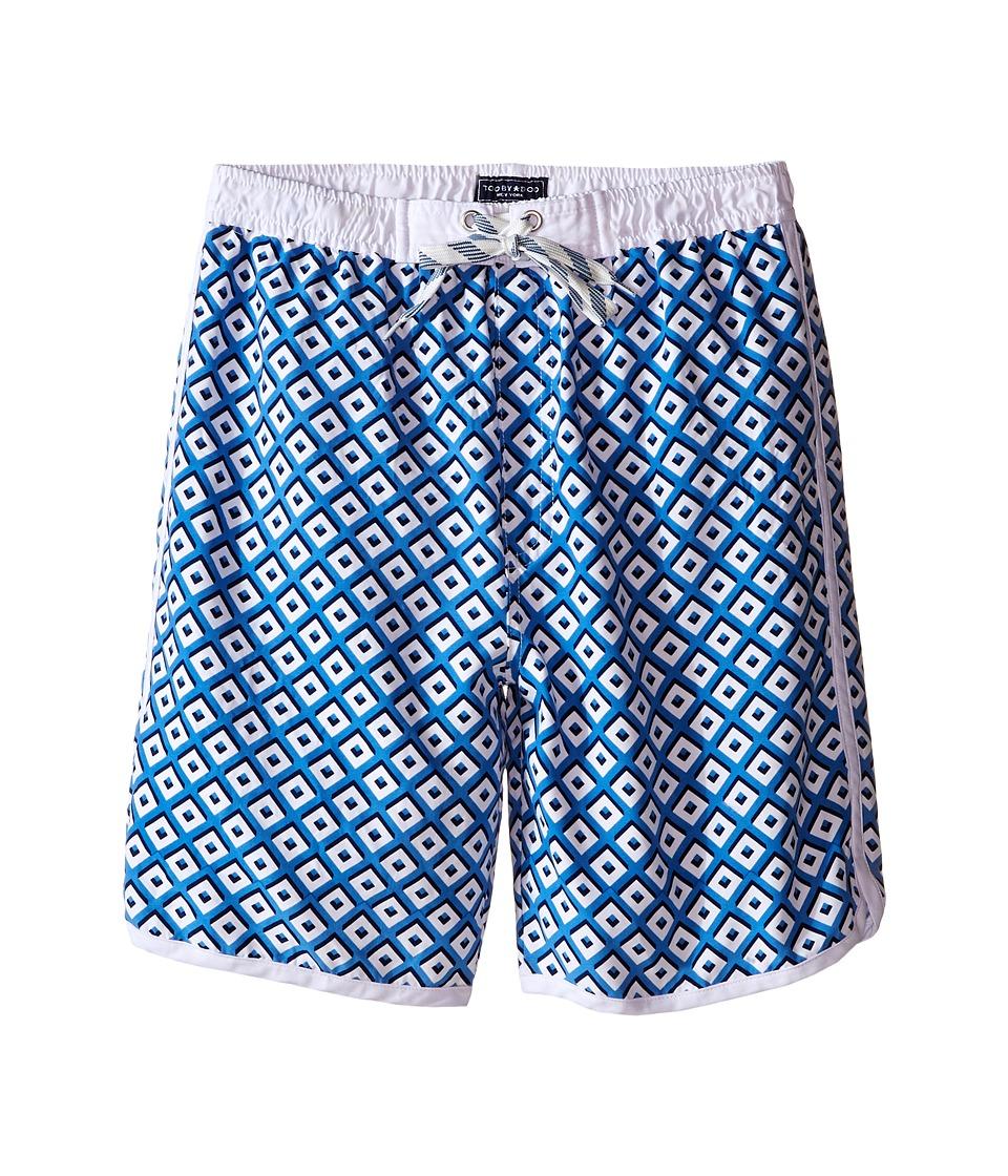 Toobydoo White Lace Drawstring Boardshorts/White Lining Infant/Toddler/Little Kids/Big Kids Blue/White Boys Swimwear
