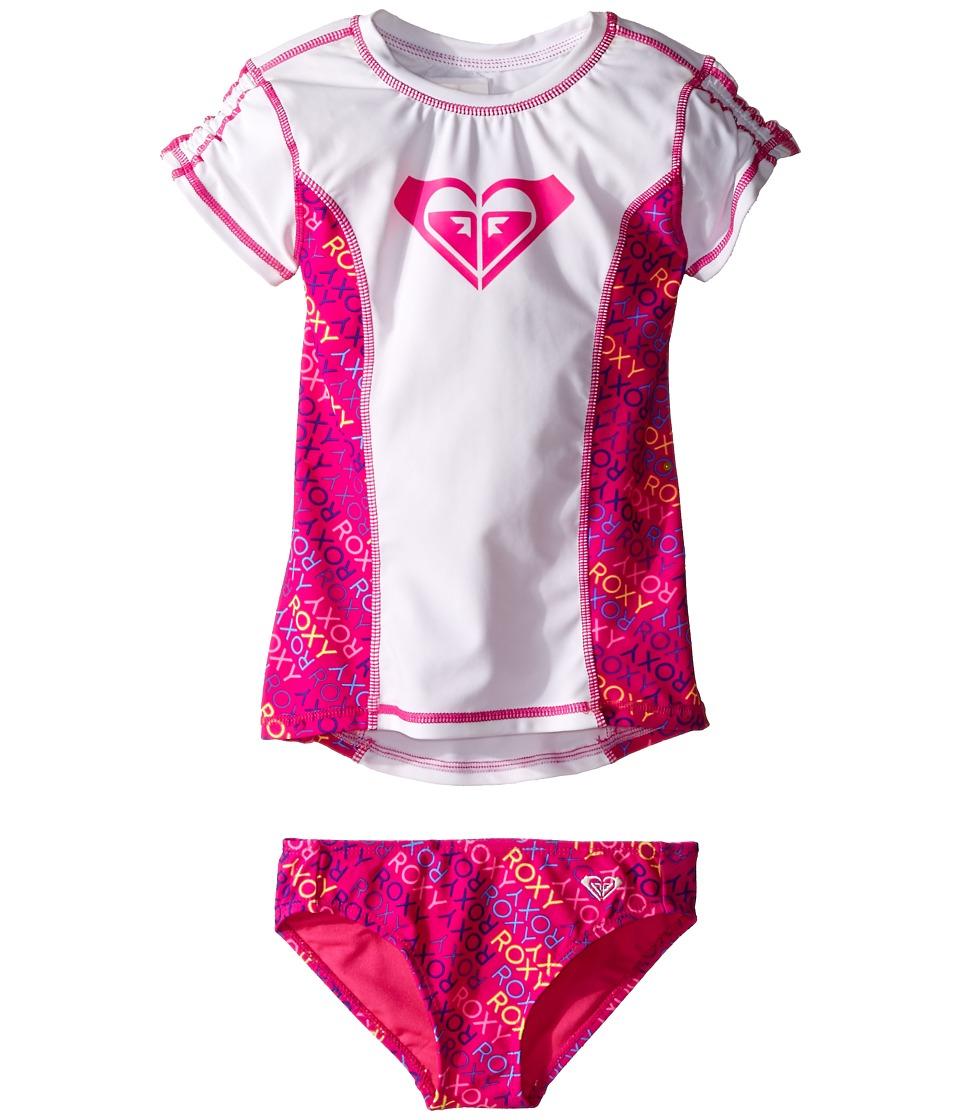 Roxy Kids Roxy Ready Rashguard Set Toddler/Little Kids Camellia Rose Girls Swimwear Sets
