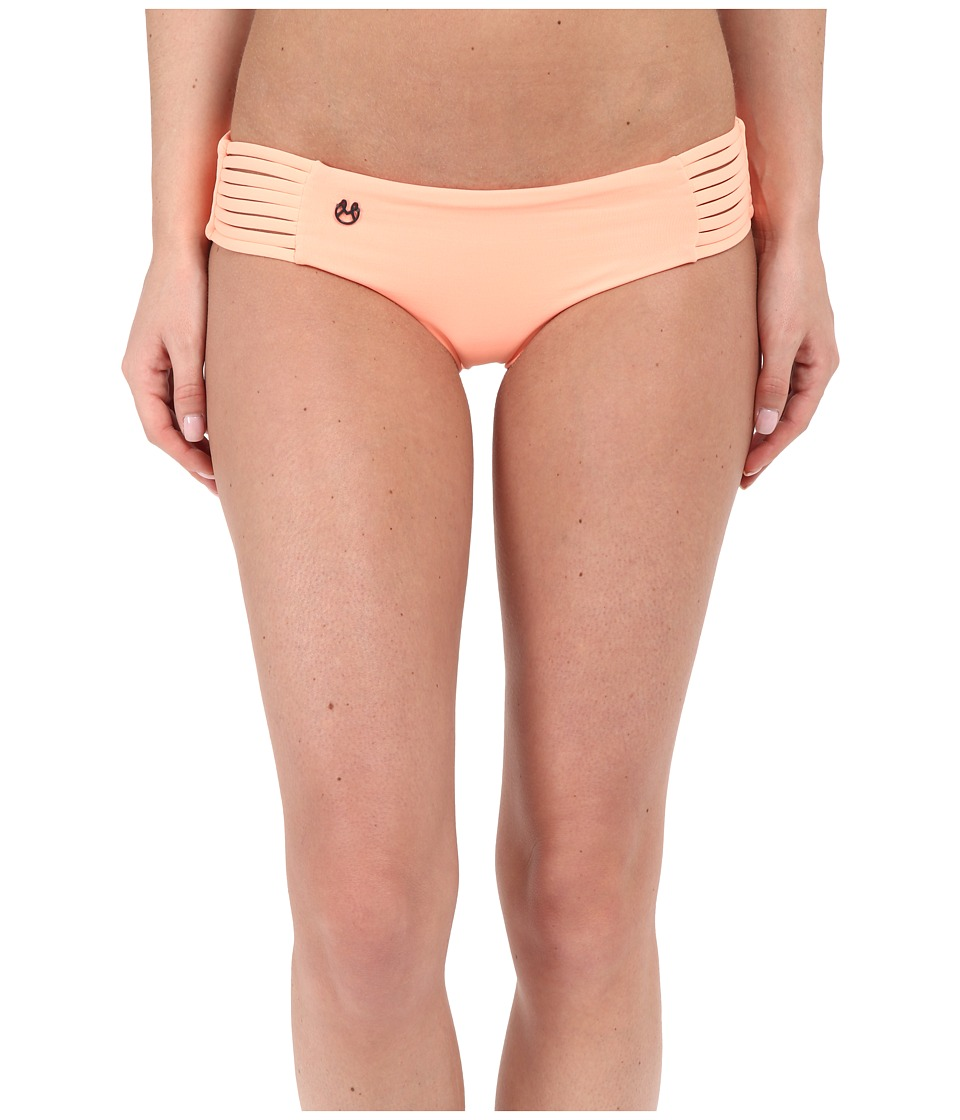 Maaji Cantaloupe Railway Signature Cut Bottom Cantaloupe Womens Swimwear