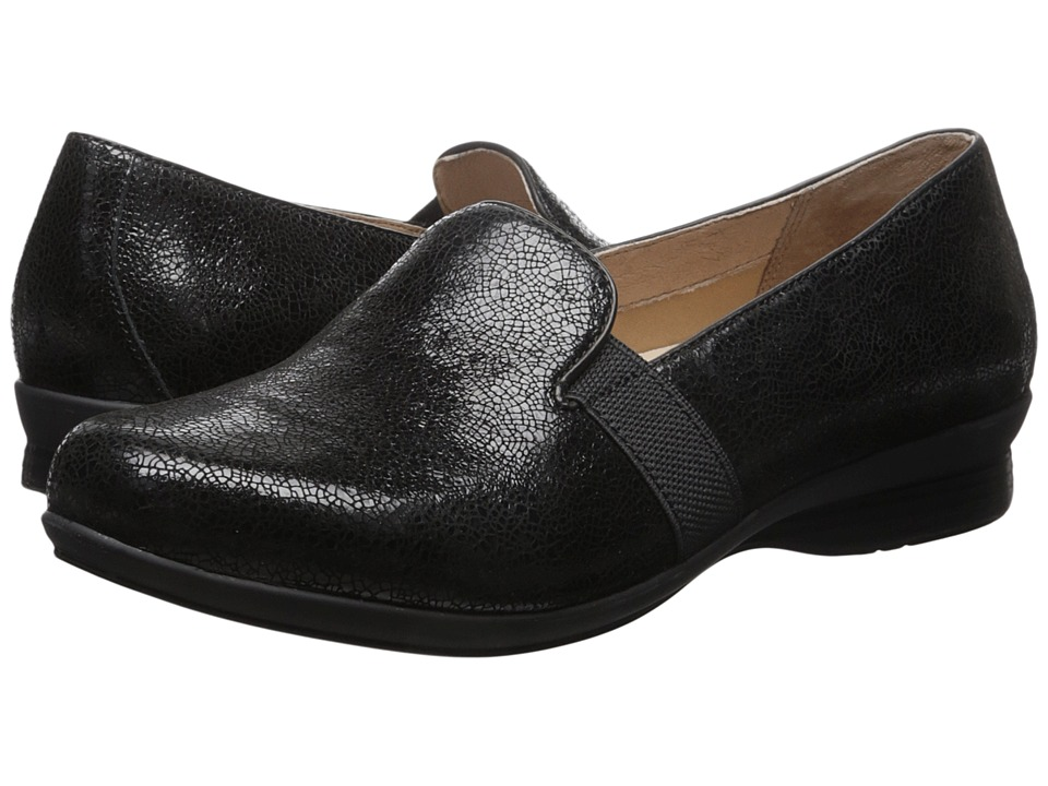 Dansko Addy (Black Crackle Suede) Women