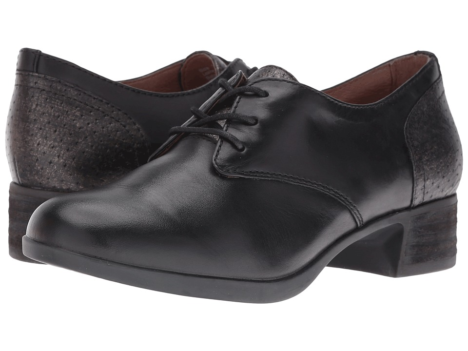 Vintage Style Shoes, Vintage Inspired Shoes Dansko - Louise Black Antiqued Calf Womens Lace up casual Shoes $149.95 AT vintagedancer.com